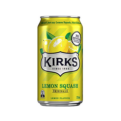 Kirks Lemon Squash Multipack Cans Soft Drink 10 x 375 mL