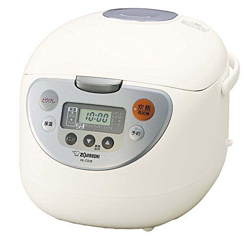 象印 炊飯器 マイコン式 1升 ホワイト NL-CS18-WA