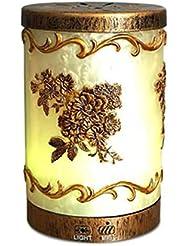 多彩な芳香ランプ、超音波機械、理性的な古典的な浮彫りにされたパターン拡散器の器械 (Color : Natural)