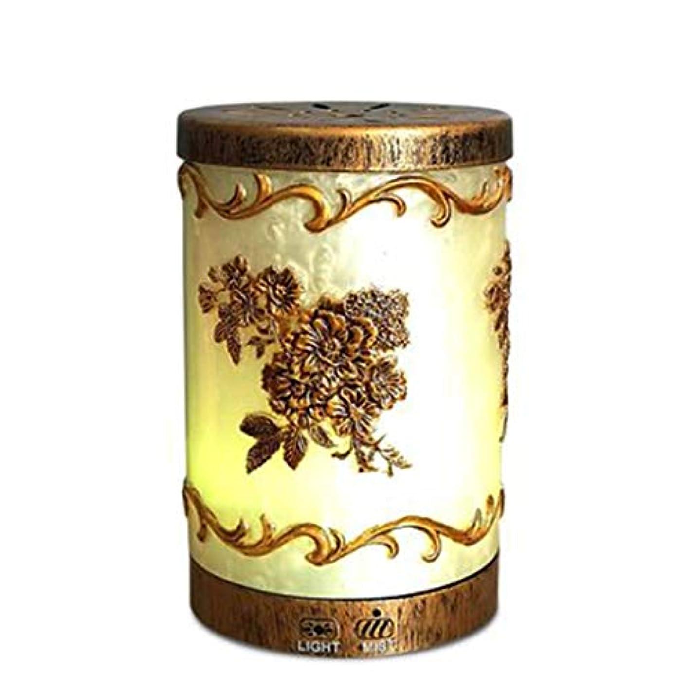 遺産市民ギャザー多彩な芳香ランプ、超音波機械、理性的な古典的な浮彫りにされたパターン拡散器の器械 (Color : Natural)