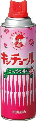 『キンチョール ハエ・蚊殺虫剤スプレー 450mL ローズの香り』のトップ画像
