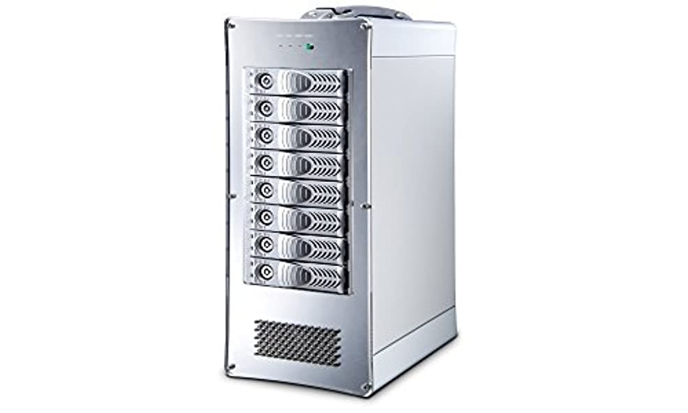 プランターカレンダー予言するKingTech NetStor NA762TB3 Desktop 8bay Thunderbolt3 RAID storage 300W single PSU Thunderbolt 2M cable 1本添付