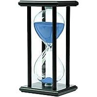 木製30分砂時計時計 装飾品 プレゼント ブルーの砂