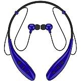 SoundPEATS【メーカー直販/1年保証付】Bluetooth イヤホン 高音質 ハンズフリー通話 ネックバンド型 CVC6.0ノイズキャンセリング機能搭載 防水 防滴 スポーツ仕様 ワイヤレス イヤホン Q800 (ブルー)