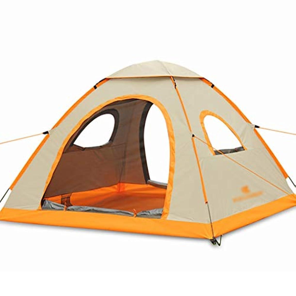 利益放散する操縦する1秒速オープン厚い 防雨自動テント屋外3-4人キャンプキャンプテント大きなスペース防風防雨