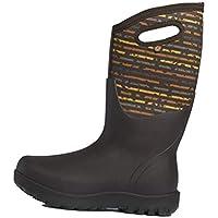BOGS Women's Neo-Classic Tall Waterproof Rain Boot, Spot Stripes Print