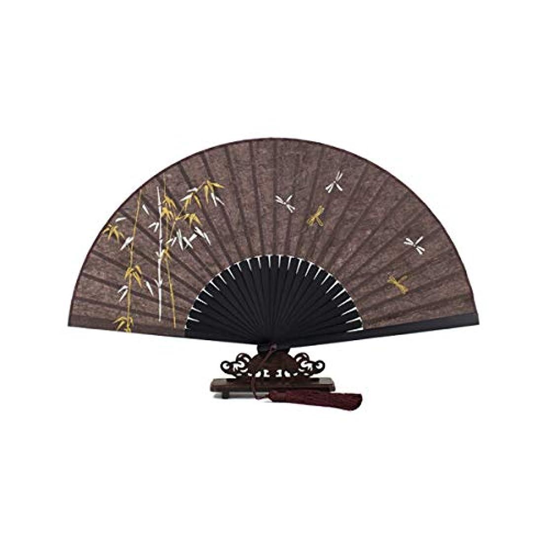 虎飾り羽踏みつけKATH ファン、中国紙の扇子