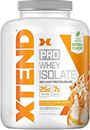 Scivation Xtend Pro, 100% Whey Protein Isolate Powder, Salted Caramel Shake, 2.27kg