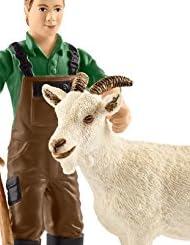 シュライヒ ファームワールド 農夫とヤギ フィギュア 42375