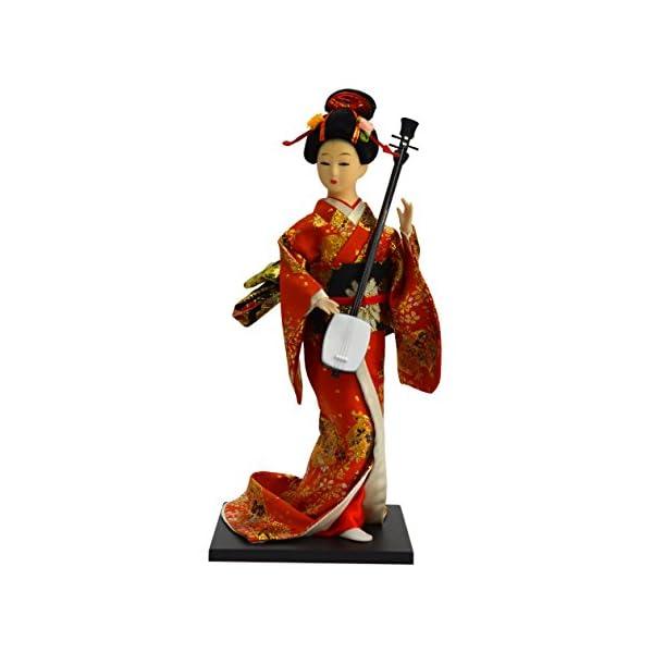 日本人形12インチ 三味線 A 303-061の商品画像