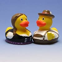Bavarian Rubber Duck Pair ゴム製のアヒル …