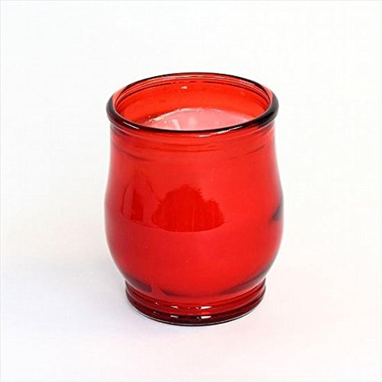 屋内町精査するカメヤマキャンドル(kameyama candle) ポシェ(非常用コップローソク) 「 レッド 」