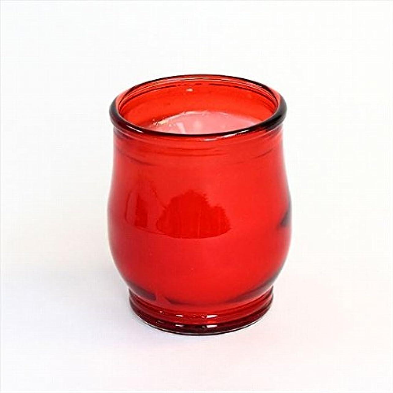 特異な怠けたよりカメヤマキャンドル(kameyama candle) ポシェ(非常用コップローソク) 「 レッド 」