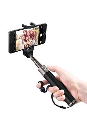 自撮り棒 TaoTronics セルフィースティック Bluetooth セルカ棒 シャッターボタン付き Android iPhoneスマ...