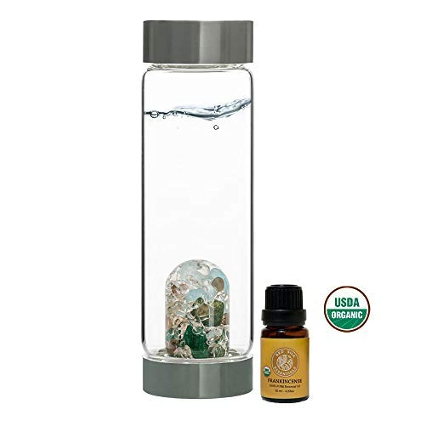 長さ脅かすアラビア語VitaJuwel Gem Water Bottle ViA - Forever Young w/Free Organic Frankincense Essential Oil [並行輸入品]
