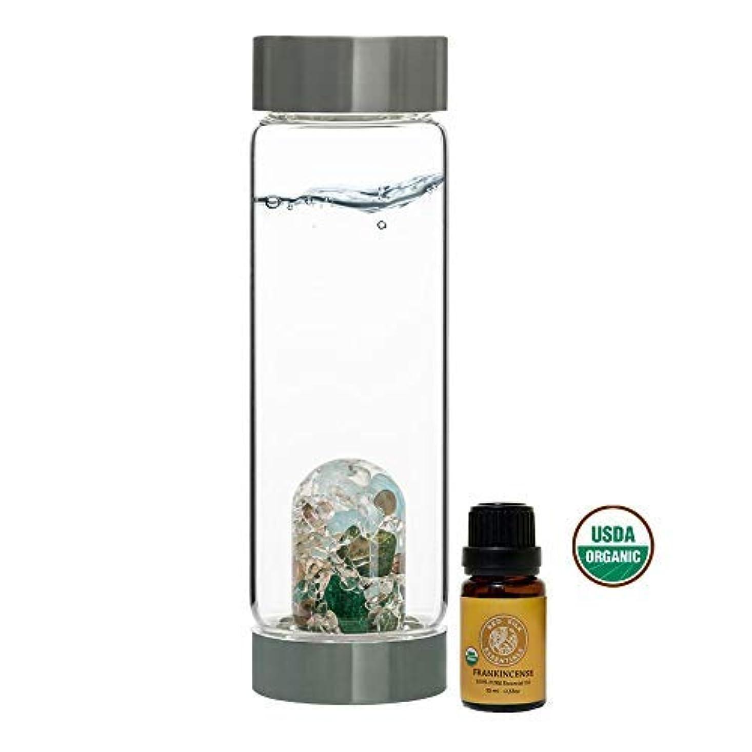 情熱交通優しいVitaJuwel Gem Water Bottle ViA - Forever Young w/Free Organic Frankincense Essential Oil [並行輸入品]