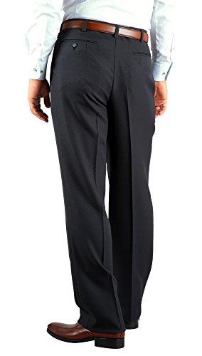 秋冬 洗える 仕事 ビジネス メンズ (ツータック) スラックス ※Amazonより直接発送/裾上げ不可 2T/スレートグレー 85cm