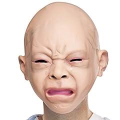 リアル赤ちゃん マスク 大人用 人面 ラテックス製 被り物 変装 コスプレ グッズ