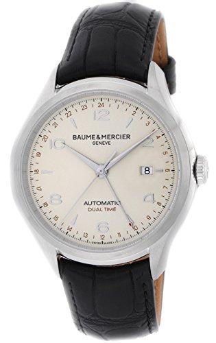 [ボーム&メルシエ]BAUME & MERCIER 腕時計 クリフトンデュアルタイム シルバー文字盤 自動巻 アリゲーター革 裏蓋スケルトン MOA10112 メンズ 【並行輸入品】