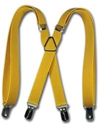 TopTie KidsサスペンダーBoy Elastic Adjustable 1.91cminch X-Backサスペンダー - イエロー