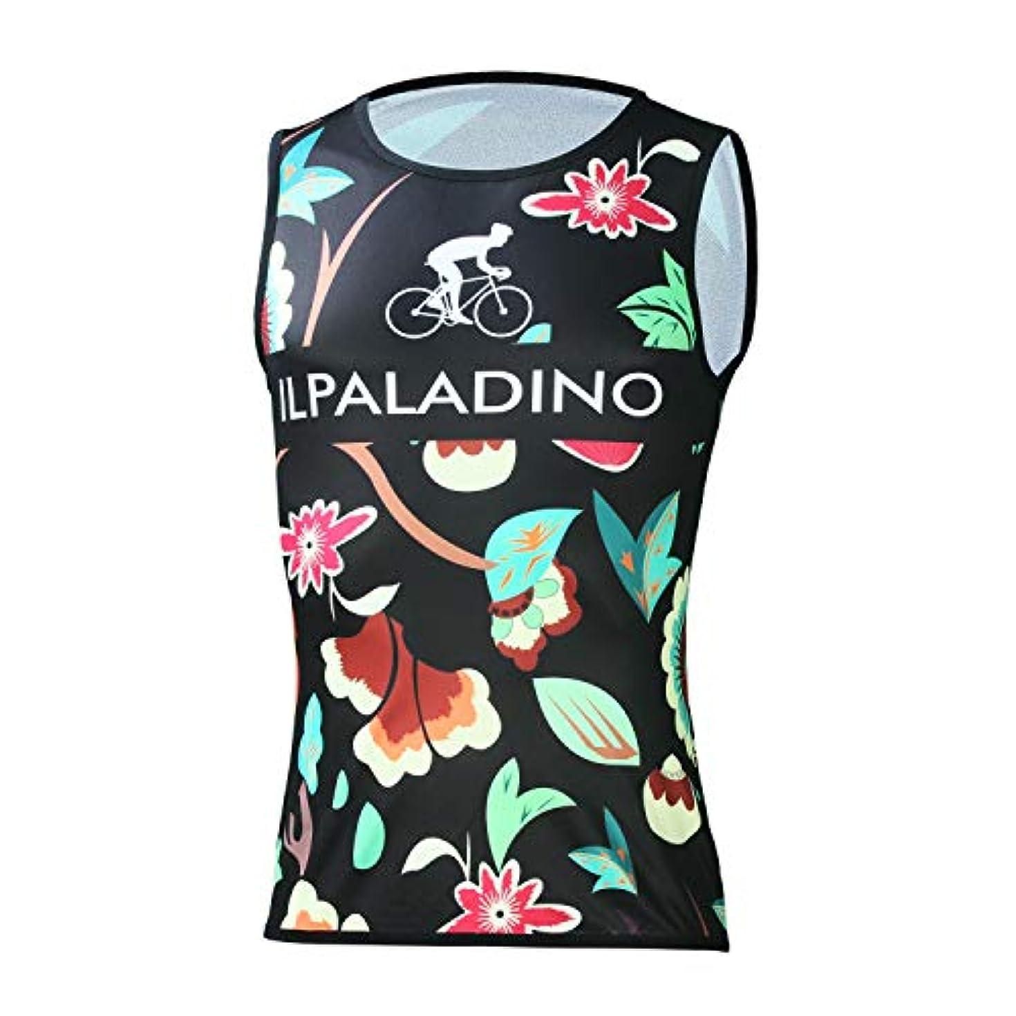 空洞超越する誘惑するサイクルジャージ レディース コンプレッションシャツ 自転車 ボタニカルプリント 通気 袖なし 吸汗速乾 レーサーウェア 春夏秋用 3D立体 通気性 アウトドア フィットネス 大きいサイズ 黒 赤