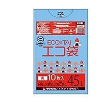 サンキョウプラテック エコ袋 45L 0.035厚 青 10枚入×50冊 LN-51