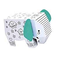 chiwanji ジグソーパズル パズル 動物モデル 装飾のおもちゃ 子供 ホビー 贈り物 全2種類 - 象