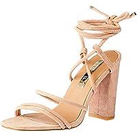 BILLINI Women's Orelia Strappy Block Heel, Hazelnut Suede, 6 AU