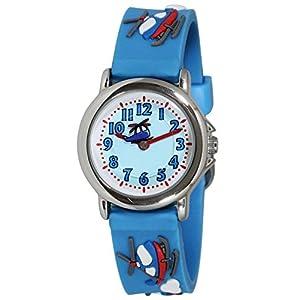 [クレファー]CREPHA 腕時計 こどもウォッチ アナログ表示 3気圧防水 ブルー AZ-BAK-4133-BL ボーイズ