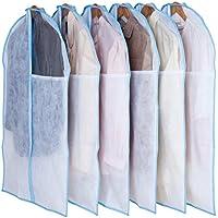 アストロ クリアカバー 6枚組 通気性バツグン 洋服カバー 湿気?ホコリ?カビ対策 中が見える透明窓付き 126-29