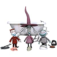 Tim Burton's The Nightmare Before Christmas - Action Figures 3 Pack: Lock, Shock, Barrel Bathtub Boxed Set