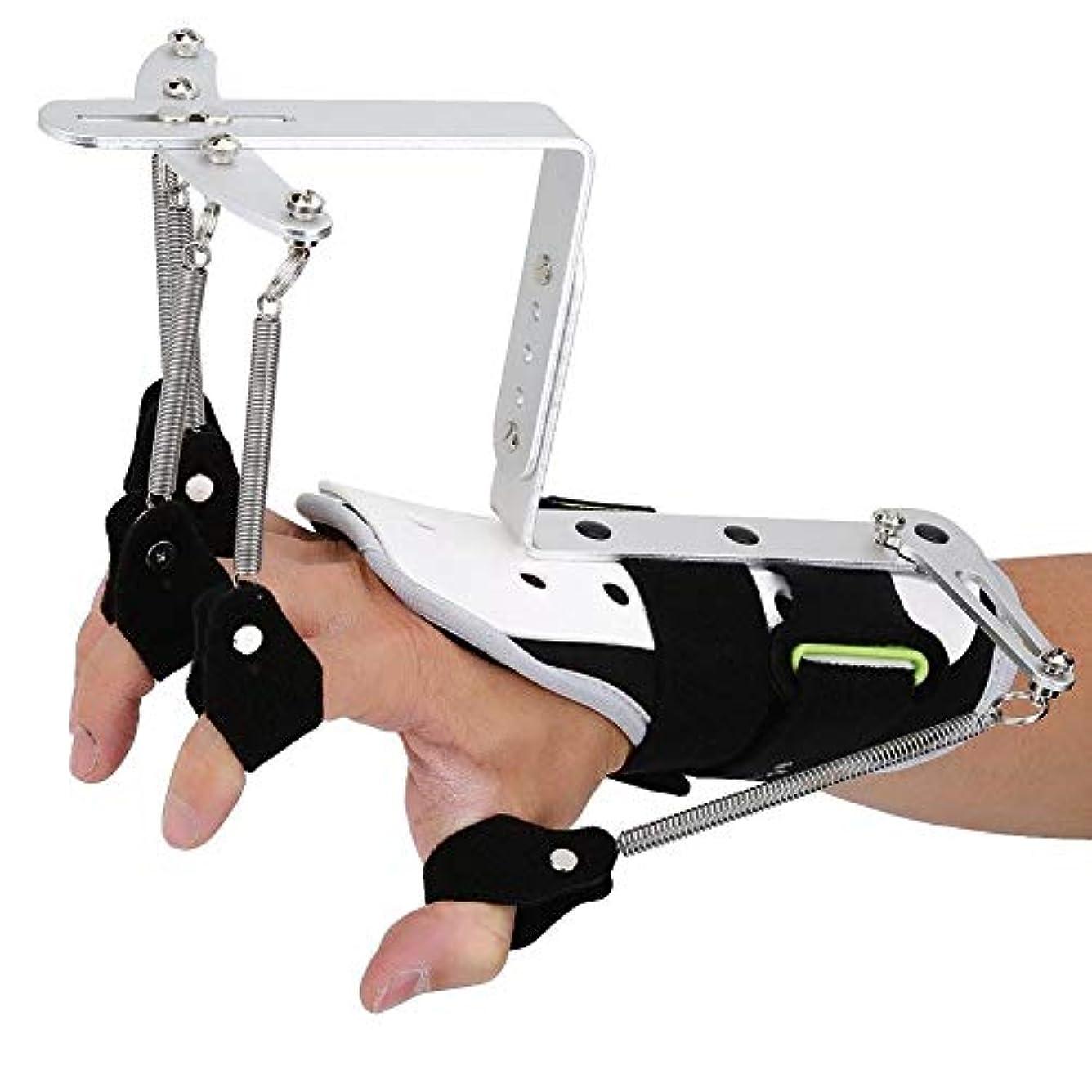 記念品コマンドスタウト脳卒中片麻痺患者の指損傷サポート、指リハビリテーション副木サポート手首矯正トレーニング機器
