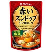 ダイショー 赤いスンドゥブ チゲ用スープ 中辛 300g×20袋入×(2ケース)