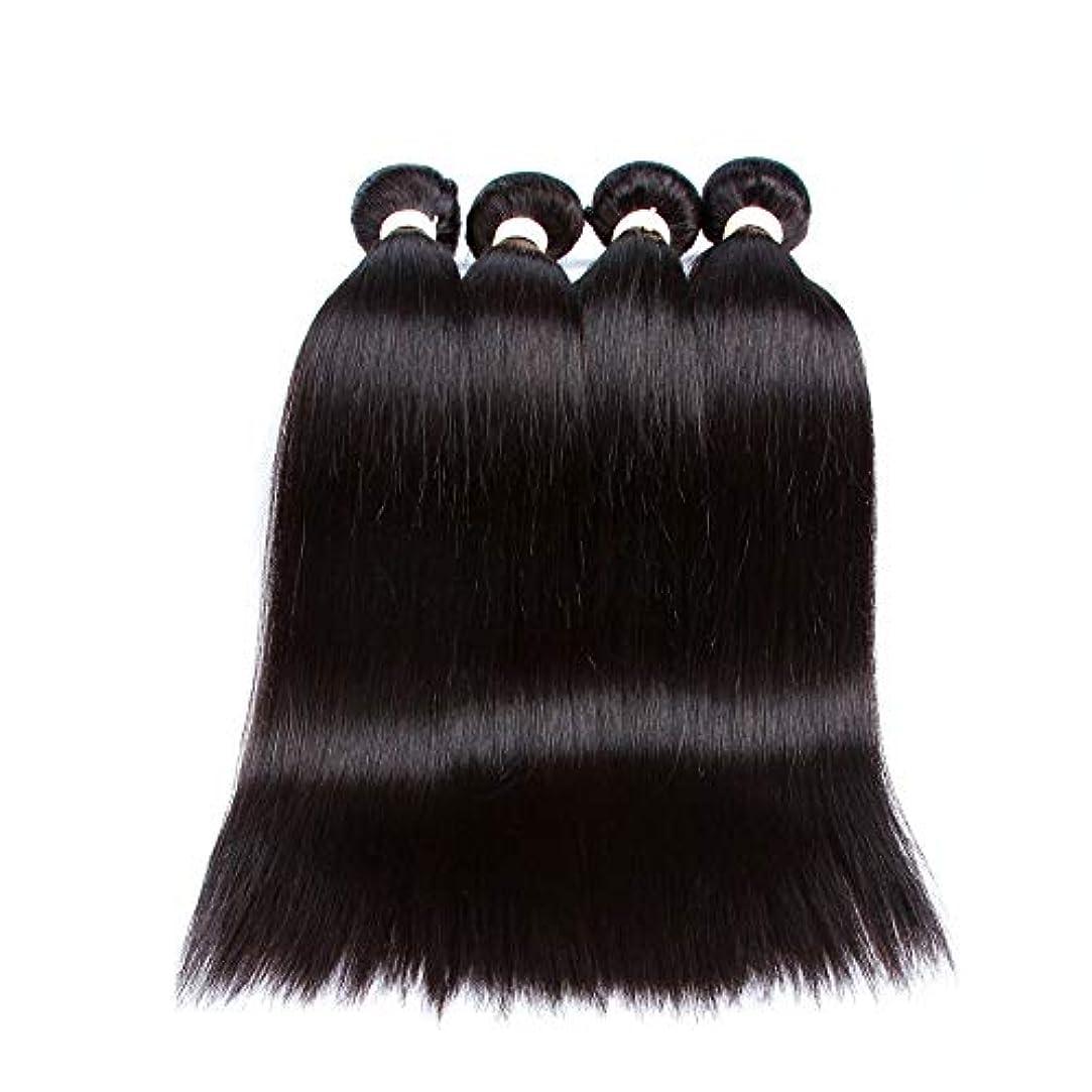 ベーカリー読書司書SRY-Wigファッション ヨーロッパやアメリカのファッションウィッグ黒人女性のための赤ちゃんの髪の事前選択フルレースウィッグと黒のロングストレートヘア (Color : ブラック, Size : 26inch)