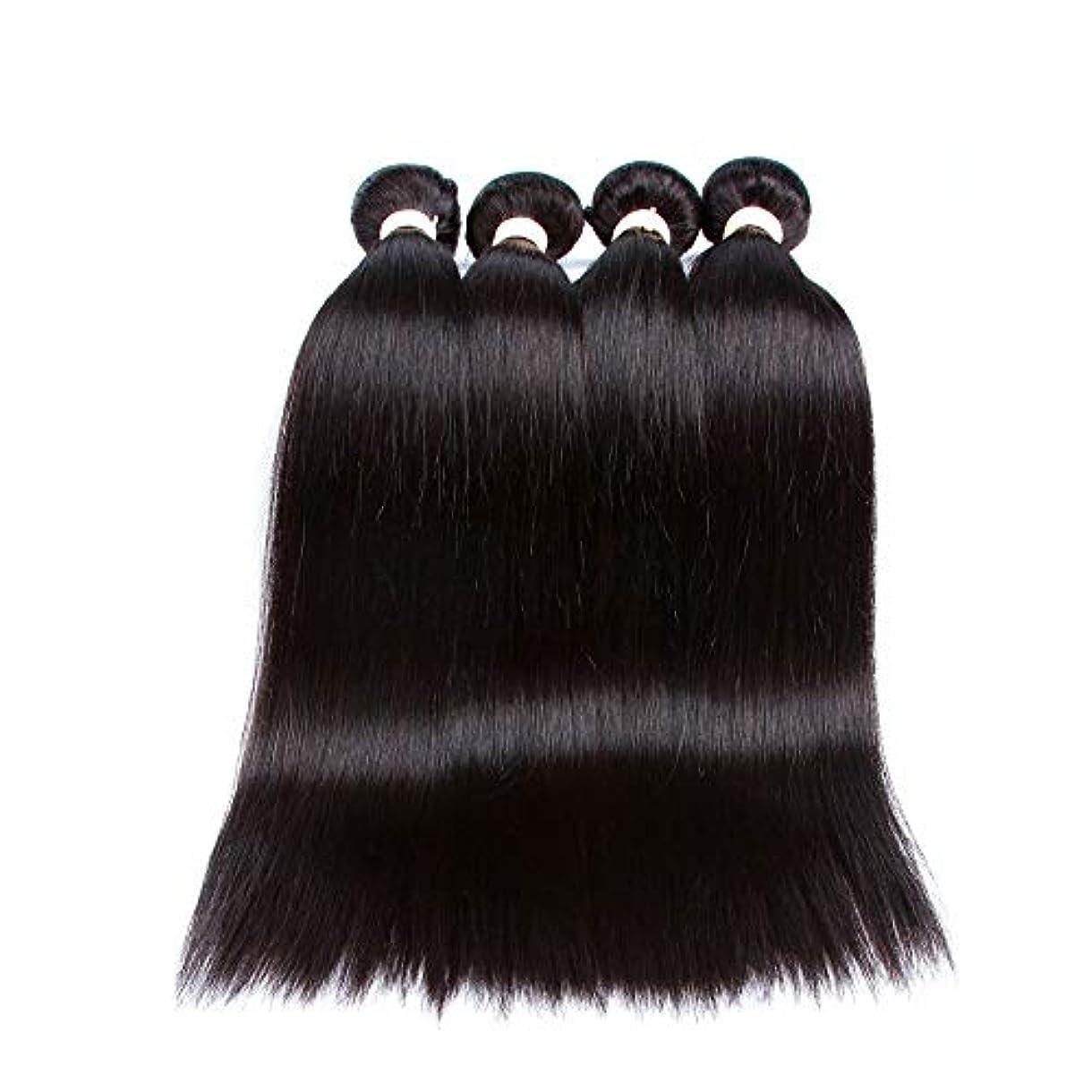 SRY-Wigファッション ヨーロッパやアメリカのファッションウィッグ黒人女性のための赤ちゃんの髪の事前選択フルレースウィッグと黒のロングストレートヘア (Color : ブラック, Size : 26inch)