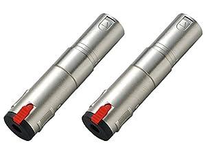 【2個セット】KC 変換コネクター CA305 XLR(M)/PHONE(F)/XLR~PHONE(オス)の変換(アンバランス)