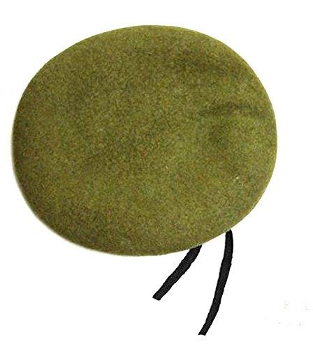 Blumen-Beet フランス軍 タイプ ベレー帽 ファッション サバゲー コスプレ (グリーン)
