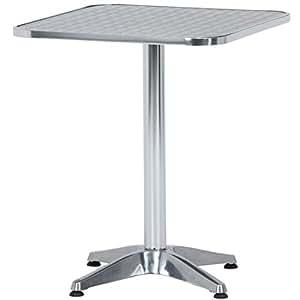 不二貿易 アルミテーブル スクエア 60cm×60cm 65038