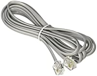 Steren 304-007SL 7' 4 Conductor Line Cord Silver Line Cord Silver (Telecom/Batteries and Cable Accessories) Silver [並行輸入品]
