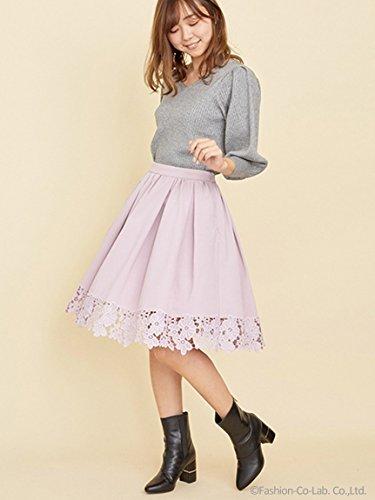 Noela (ノエラ)裾レース切替フレアスカート