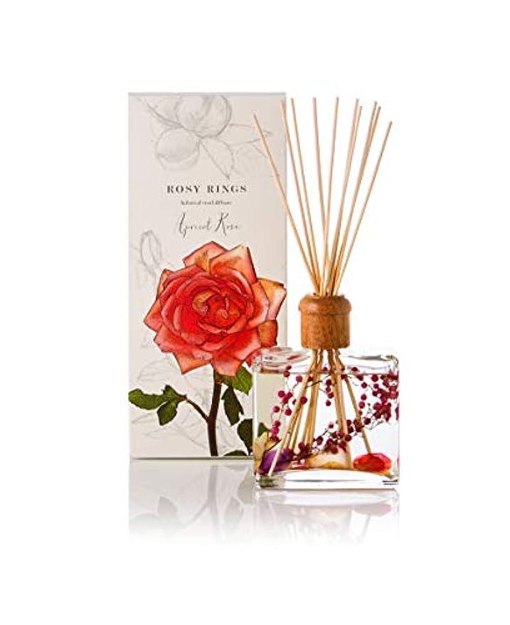 下るにやにや接尾辞Rosy Rings Botanical Reed Diffuser - Apricot Rose 13oz