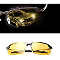 Night Driving Glasses, Night-vision Glasses Polarized Safety Glasses, Anti-Glare Night Vision Reduce Eye Strain Shooting Glasses Men Women