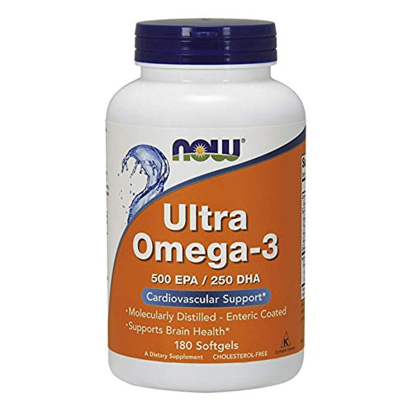 連帯秘書許容できるNow Ultra Omega-3 (500 EPA / 250 DHA) 180 sgels