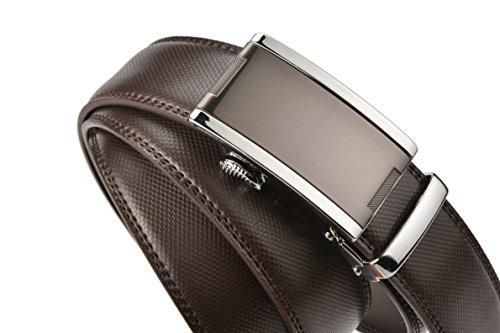 (エイチダブリュー  ゾーン)HW ZONE ベルト メンズ 革 ブランド サイズ調整可能 レザー ビジネス プレゼント 就職祝い 紳士ベルト 革ベルト 進学祝い ギフト (ウェスト:75-95CM, brown)