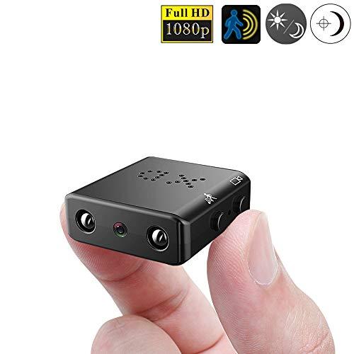 ZTour マイクロカメラ 1080P 赤外線 暗視 動作検出 黒 XD...
