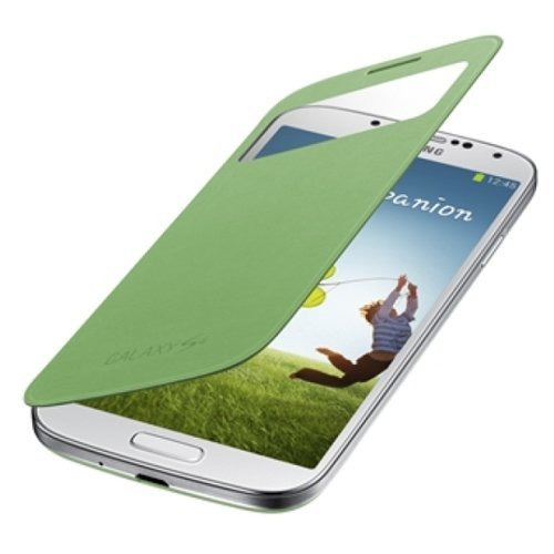 SAMSUNG純正GALAXY S4 S View Cover / docomo GALAXY S4 SC-04E専用カバー / グリーン(全7色) / ギャラクシーS4フリップカバー / ワンセグアンテナ対応 / グリーン