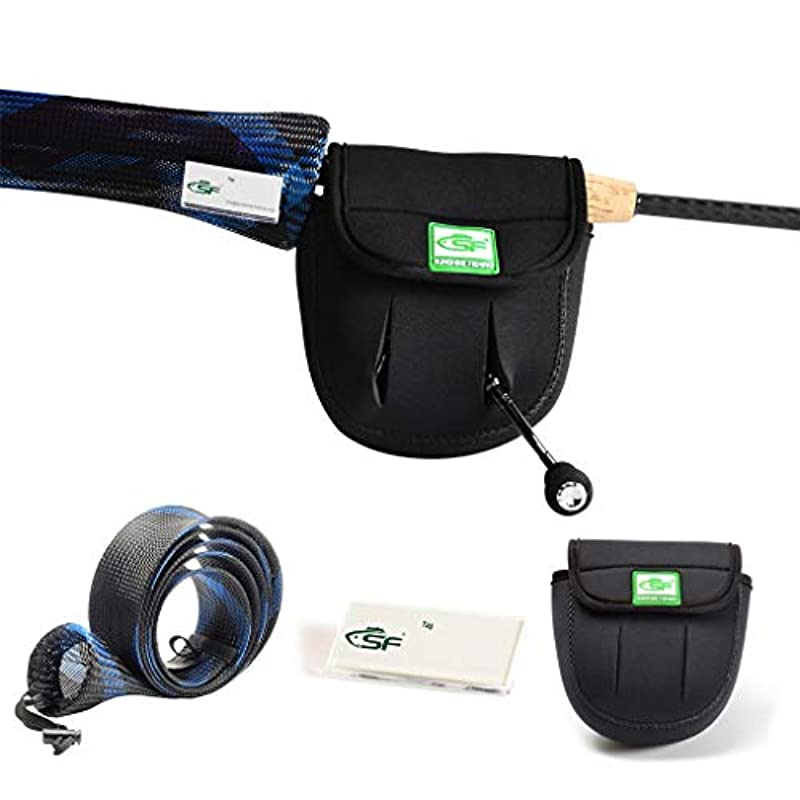 アームストロング恥ずかしさお風呂を持っているSF製フィッシング用回転釣り竿カバー 釣り竿用ソックス 釣り竿用スリーブ