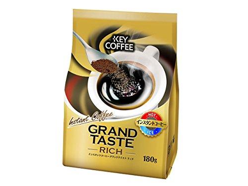キーコーヒー インスタントコーヒー グランドテイスト リッチ 粉 180g