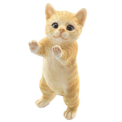 [ファンシー] 誕生日プレゼント 女性 人気 彼女 ネコ 猫 置物 インテリア ガーデニング ガーデンオーナメント 猫 好き な 人 へ の プレゼント 結婚記念日 転居 最適なプレゼント ca81Y (茶トラ)