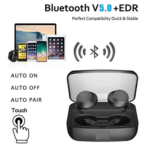 『zhongxinze 【進化版 3000mAh IPX8完全防水】Bluetooth イヤホン Hi-Fi 高音質 最新Bluetooth5.0+EDR搭載 3Dステレオサウンド 完全ワイヤレス イヤホン 自動ペアリング ブルートゥース イヤホン AAC対応 左右分離型 Siri対応 音量調整可能 超大容量充電ケース付き 片耳&両耳とも対応 iPhone/ipad/Android適用 (ブラック)』の5枚目の画像